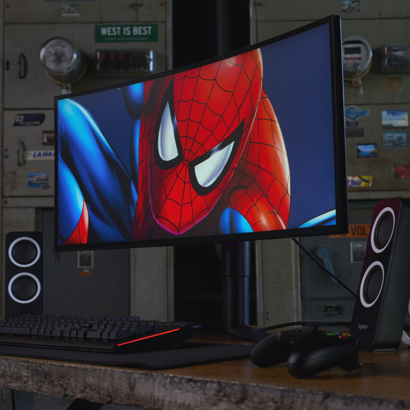 LG Ultra Wide Gaming Monitors shot by Matthew Roharik Los Angeles Lifestyle Product Photographer