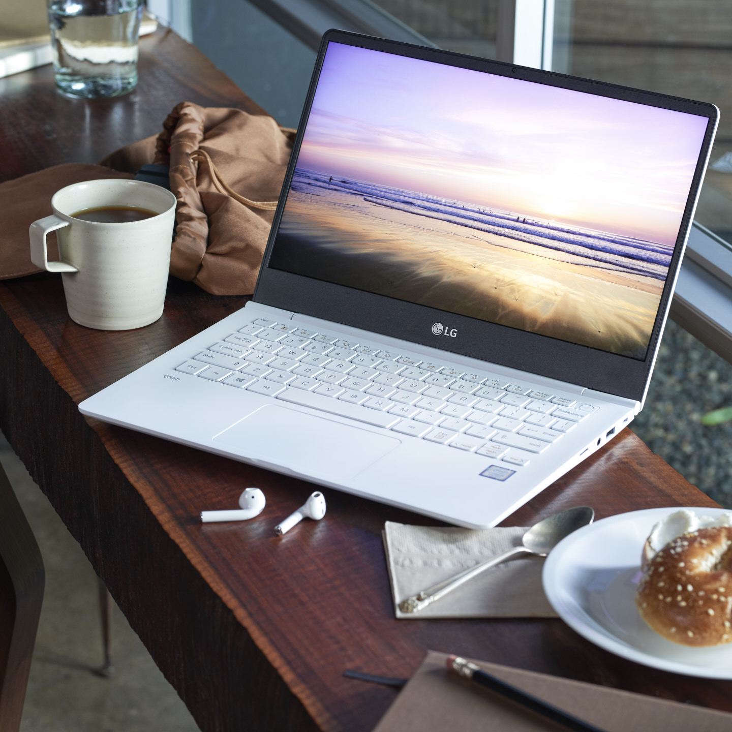 LG Gram Laptop Notebook shot by Matthew Roharik Los Angeles Lifestyle Product Photographer