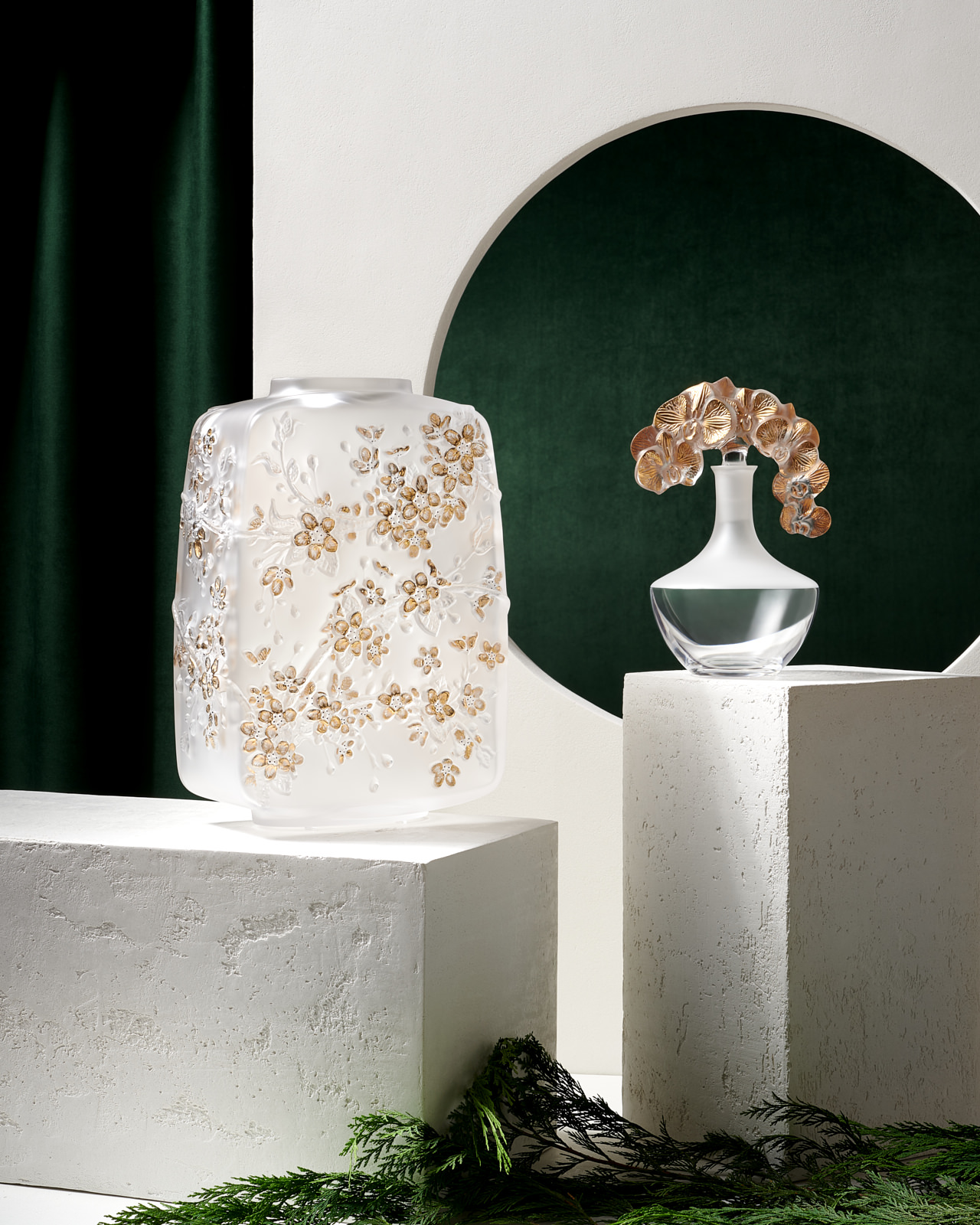 Lalique Vase Decanter For Neiman Marcus Catalog Look Book by Matthew Roharik Luxury Product Photographer Los Angeles